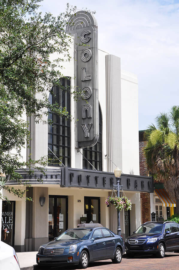 Photo of a beautiful shop in a former theatre in Winter Park, Florida. Read why you should visit Winter Park!