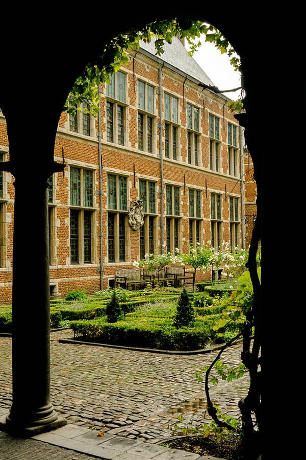View of the Plantin-Moretus museum in Antwerp, one of the highlights of a week in Belgium! #travel #belgium #antwerpen