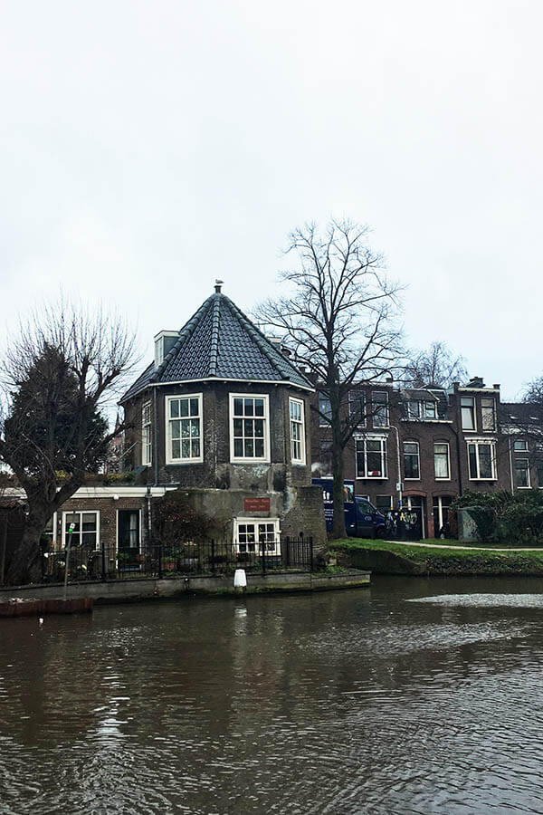 Exterior of Rietveldse Toren, one of the most interesting buildings in Delft. This off the beaten path gem is Delft is worth seeing!  #delft #netherlands #Holland