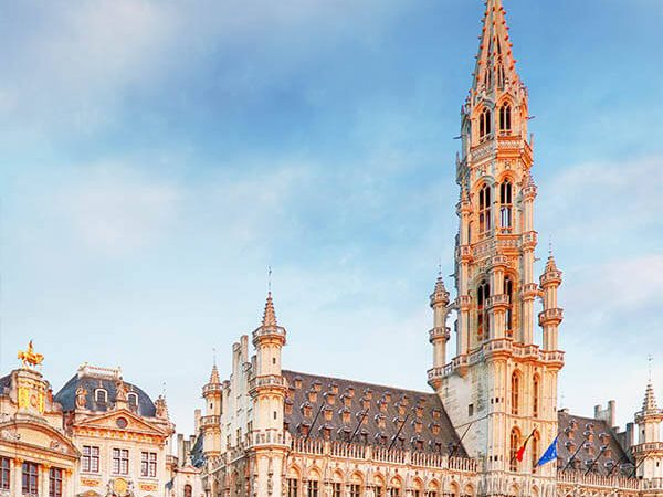 Beautiful view of Grand Place in Brussels, one of the highlights of visiting Belgium on a first trip! #travel #brussels #belgium