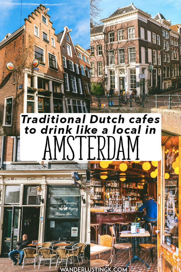 Want to experience Amsterdam like a local? Read this guide to the best cozy brown bars in Amsterdam to experience Amsterdam like a local.  Cheers to a beer or coffee in these historic cafes in Amsterdam! #amsterdam #holland #netherlands #bier #heineken #beer #nederland #bruinbar