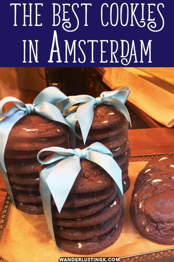 Looking for the best desserts in Amsterdam? Read this tip for the best cookies in Amsterdam that you must try from a local! #amsterdam #desserts #cookies #chocolate
