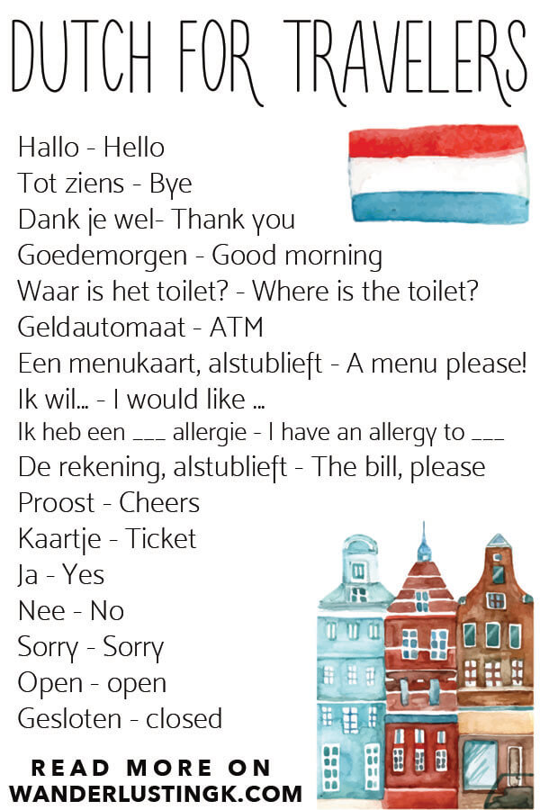 Useful Dutch phrases for travelers to Amsterdam as well as Holland written by a resident of the Netherlands that you'll definitely want to use! #holland #amsterdam #netherlands #travel #languages
