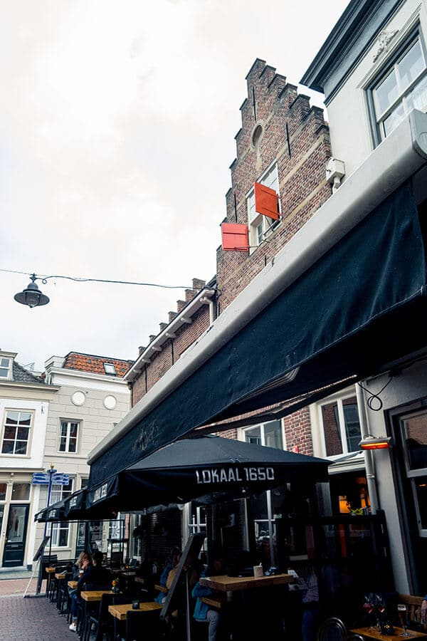 Exterior of a cafe along Korte Putstraat, one of the most charming streets in Den Bosch that you can't miss! #denbosch #brabant #travel #nederland