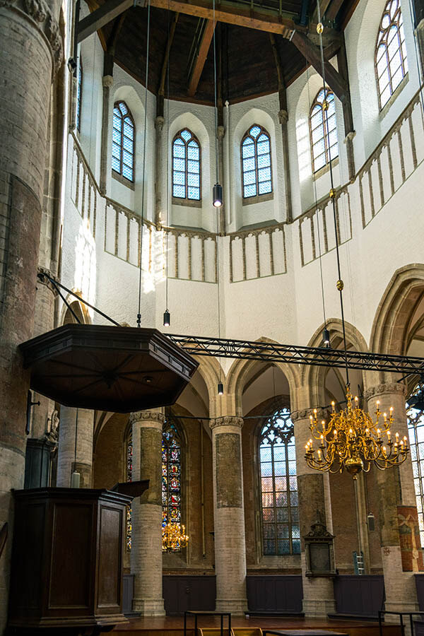 Interior of the Pieterskerk in Leiden, one of the churches where the Pilgrims attended services in Leiden! #travel #history #religion #leiden #holland #netherlands