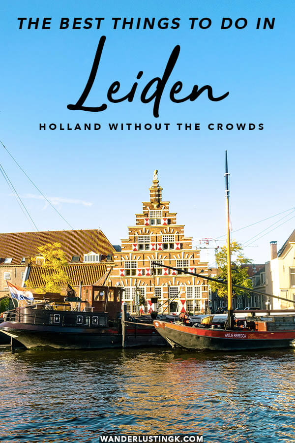 Want to avoid the crowds of Amsterdam? Take a picturesque day trip from Amsterdam to experience Leiden, a city just thirty minutes away.  Read about the best things to in Leiden for first time visitors! #leiden #travel #netherlands #nederland #holland