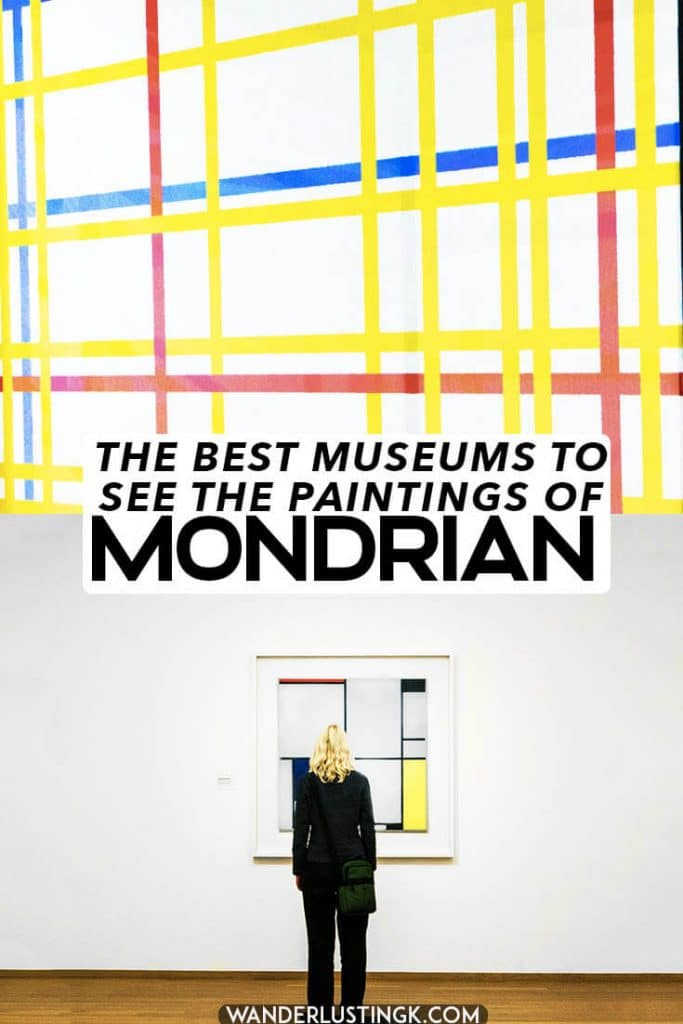 Learn about the life of Piet Mondrian, one of the most famous Dutch paintings, and find out the best museums in the world to see his artwork! #mondrian #art #mondriaan