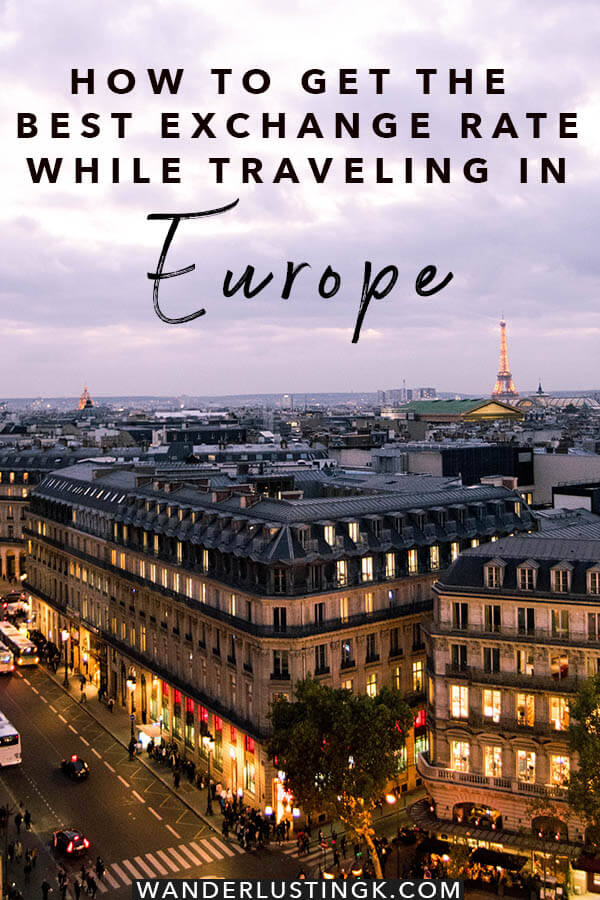 Read tips for getting the best exchange rates for your money in Europe with practical tips for getting money out in Europe by an American living in Europe! #travel #europe #money #paris