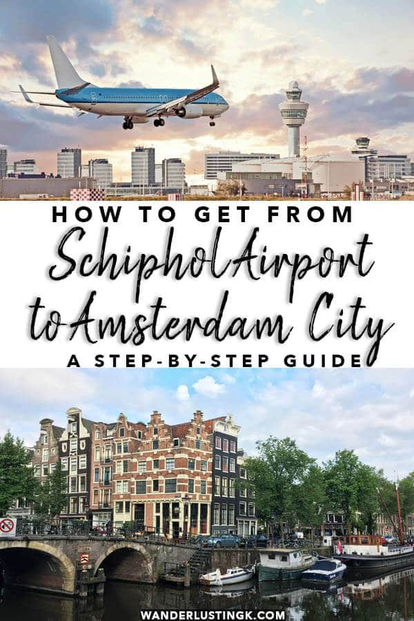 Planning to visit Amsterdam or Holland?  Save money by taking the train.  Your independent travel guide on how to take the train from Schiphol Airport to Amsterdam City with step-by-step instructions! #amsterdam #holland #netherland #schiphol #nederland #travel #traveltips