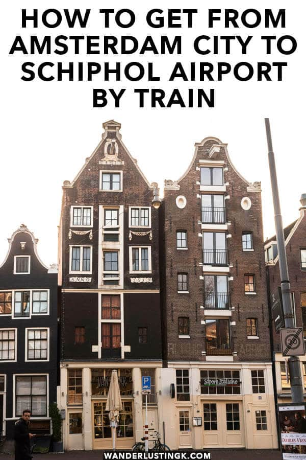 Flying out of Amsterdam? Your complete guide by a local on how to get from Amsterdam City to Schiphol Airport (Amsterdam Airport) by train with a step-by-step guide and photos! #amsterdam #schiphol #travel #airport #holland #netherlands