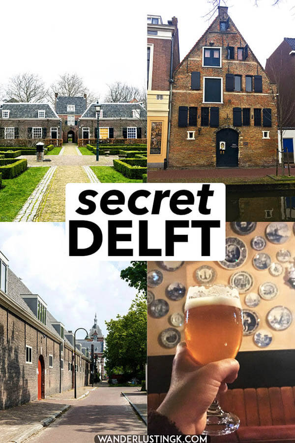 Visiting Delft, the Netherlands. This corner of Holland has far more secrets beyond Delftware. Read about 15 secret places in Delft that you'll want to visit! #delft #travel #holland #netherlands #nederland