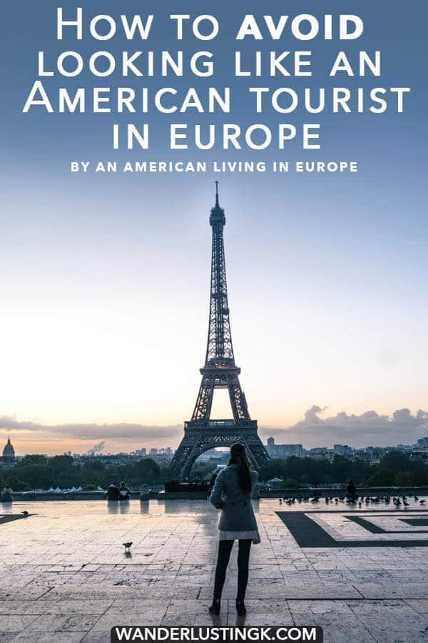Your guide on how to avoid looking like a tourist in Europe written by an American living in Europe with fashion tips for dressing like a European! #travel #europe #paris #amsterdam #london #fashion #travelstyle #style