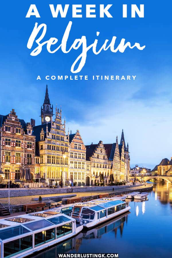 Looking for the best places to visit in Belgium? A perfect itinerary to a week in Belgium covering the best of Belgium! #belgium #brussels #antwerp #bruges #travel