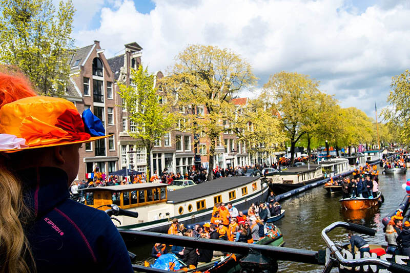 King's Day is one of the best events to experience in Amsterdam during April!