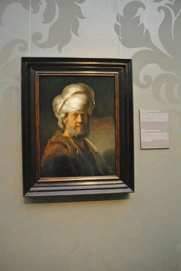 Rembrandt portrait within the Rijksmuseum in Amsterdam, one of the best places to see Rembrandt's work on display! #amsterdam #rembrandt