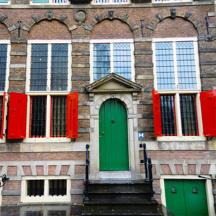 Photo of the Rembrandt House in Amsterdam, one of the best places to learn about Rembrandt's life! #art #amsterdam #rembrandt