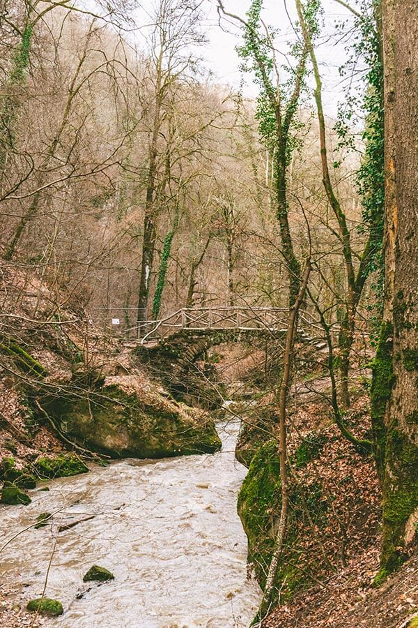 Schiessentümpel Cascade in Luxembourg, one of the highlights of hiking in the Mullerthal (Little Switzerland) in Luxembourg! #hiking #Luxembourg #mullerthal