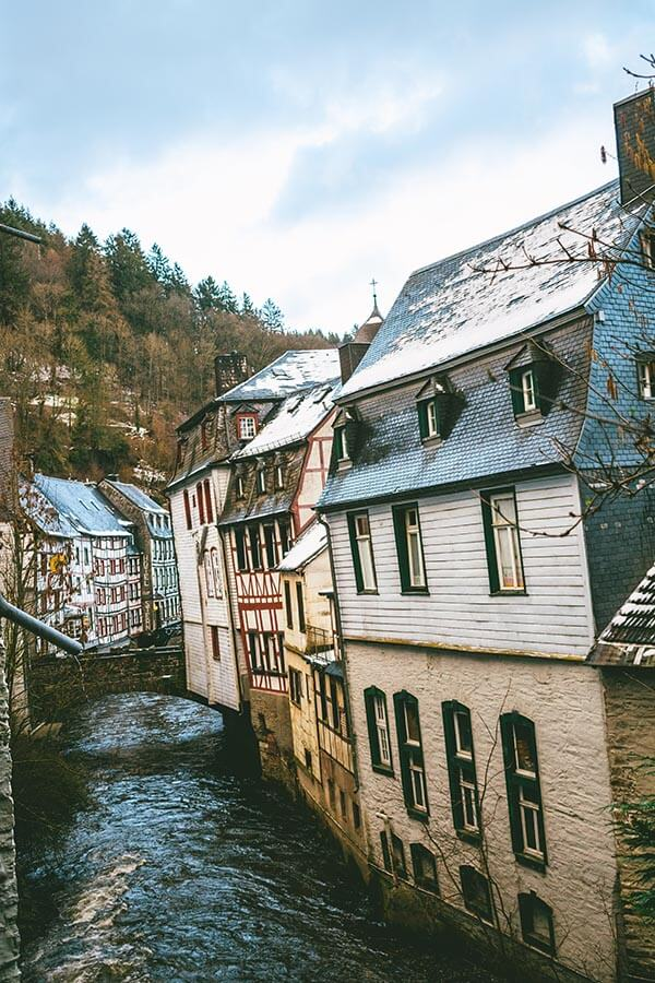 View of Monschau taken from a cozy apartment during a one day (and night) trip to Monschau!