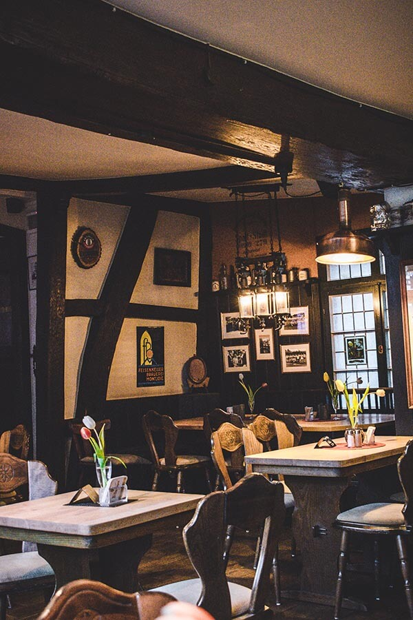 Interior of Zum Heller, a charming guesthouse and restaurant in Monschau, perfect for beer tasting in Monschau!