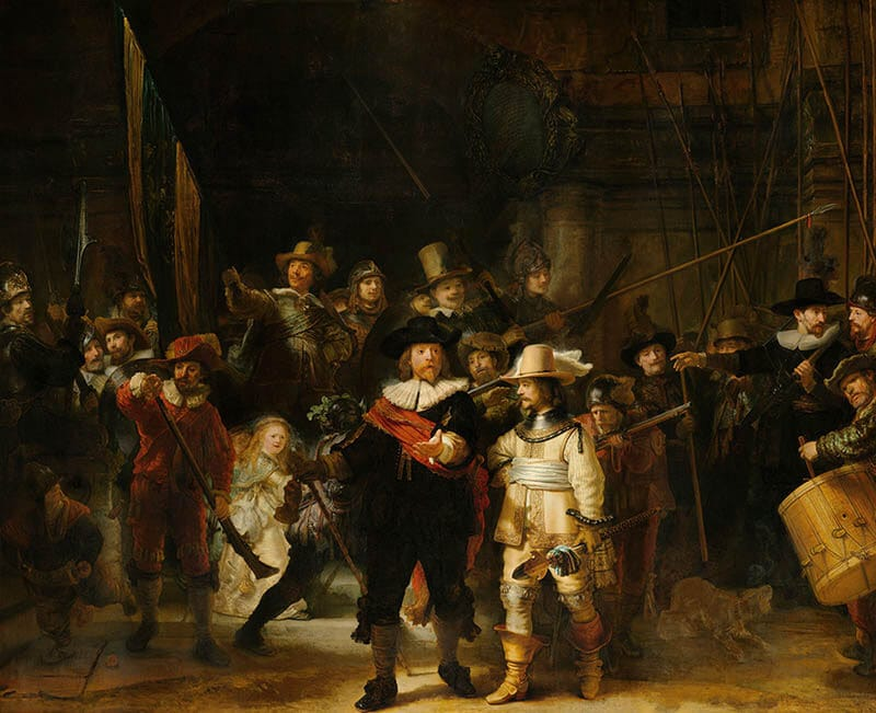 The Rijksmuseum by Rembrandt, courtesy of the Rijksmuseum
