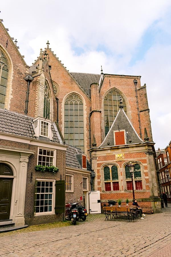 The Oude Kerk within the Red LIght District of Amsterdam
