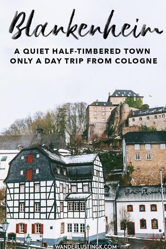 Looking for a picturesque day trip from Cologne to escape the crowds? See the beautiful half-timbered fairytale town of Blankenheim, Germany!  #travel #germany