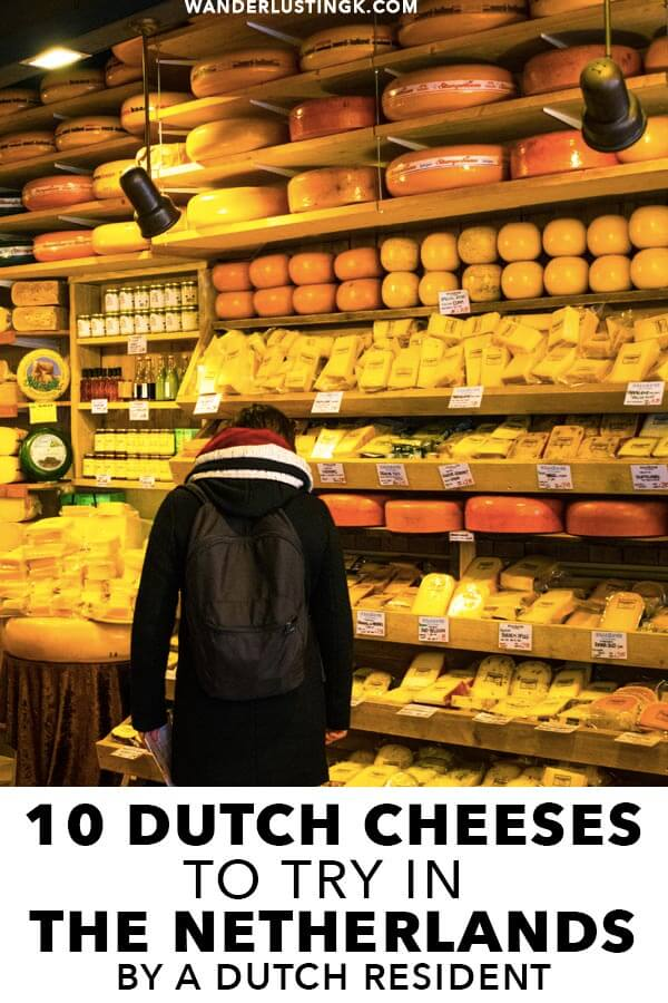 Your essential guide to the best Dutch cheeses to try in the Netherlands written by Dutch residents with tips on where to find the best Dutch cheese shops in Amsterdam! #travel #amsterdam #cheese #holland #netherlands