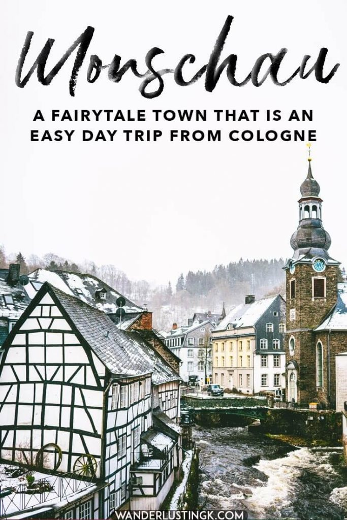 Looking for the perfect day trip from Cologne? Visit the German fairytale town of Monschau! This beautiful town can be easily visited in just one day.  Read your perfect day trip guide to Monschau with the best things to do in Monschau! #travel #germany #duitsland #monschau #fairytale #cologne