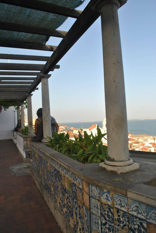 Viewpoint of Miradouro in Lisbon, a viewpoint