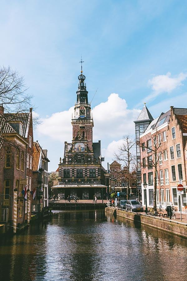 Picturesque view of Alkmaar, one of the most beautiful cities in Holland