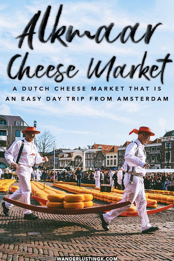 Your guide to the Alkmaar Cheese Market in Holland, one of the best cheese markets in Holland. Includes tips for first time visitors to the cheese market, explanation of the cheese market traditions, and how to visit the Alkmaar Cheese Market on a day trip from Amsterdam! #alkmaar #amsterdam #holland