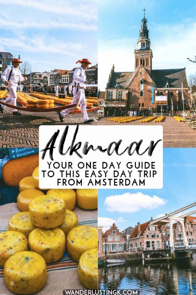 Your day trip guide to Alkmaar from Amsterdam featuring the best things to do in Alkmaar, including the Alkmaar Cheese Market.  Includes a walking guide of this cute Dutch city! #holland #alkmaar