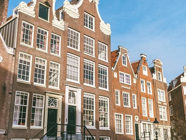 Photo of the Bagijnhof, a hidden courtyard in Amsterdam
