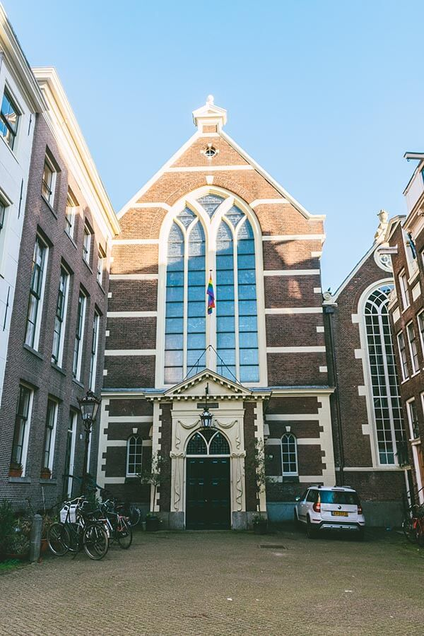 Exterior of the Walloon church, a secret place in Amsterdam!