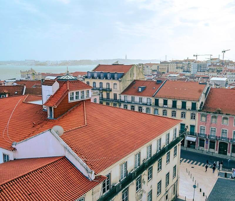 Beautiful viewpoint of Lisbon from a Miradouro, one of the things that you must do in Lisbon!