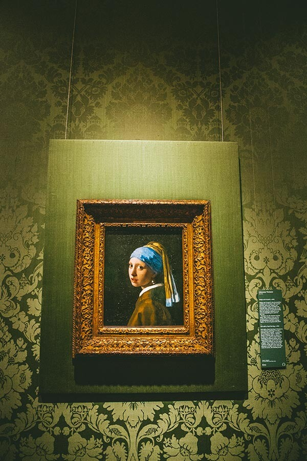 The Girl With the Pearl Earring within the Mauritshuis Museum in the Hague