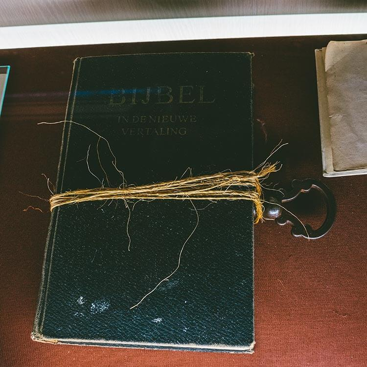 A key & bible used for witch tests in the Netherlands