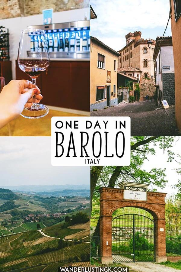 Your independent travel guide to one day in Barolo, Italy with tips for tasting Barolo wine without a tour! Includes tips for tasting the King of Italian wines, Barolo! #barolo #italy #piedmont #wine