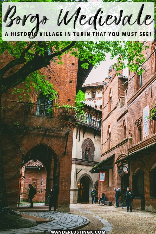 The Borgo Medievale is a beautiful recreated medieval village located in Turin, Italy that is worth visiting! This free attraction is one of the best things to do in Turin!
