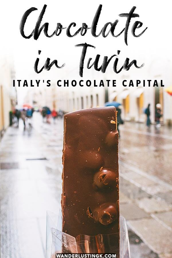Read about Europe's other chocolate capital for chocolate lovers: Torino, Italy. This is where the chocolate bar was invented. Read this guide to the best chocolate in Turin and chocolates to try in Turin! #turin #torino #italia #chocolate #italy