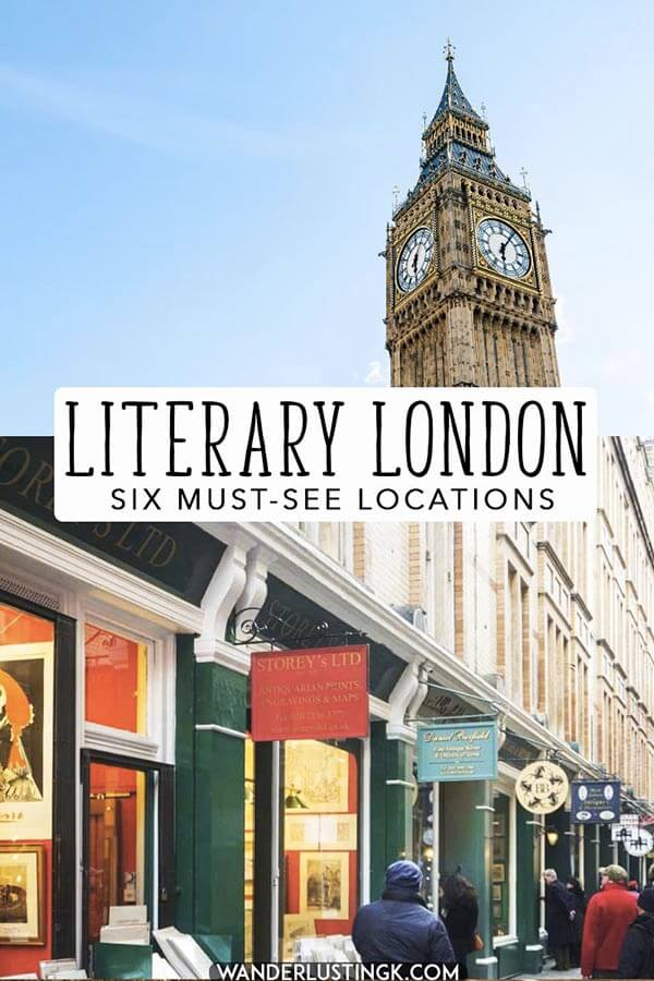Six key locations in London for literature lovers!