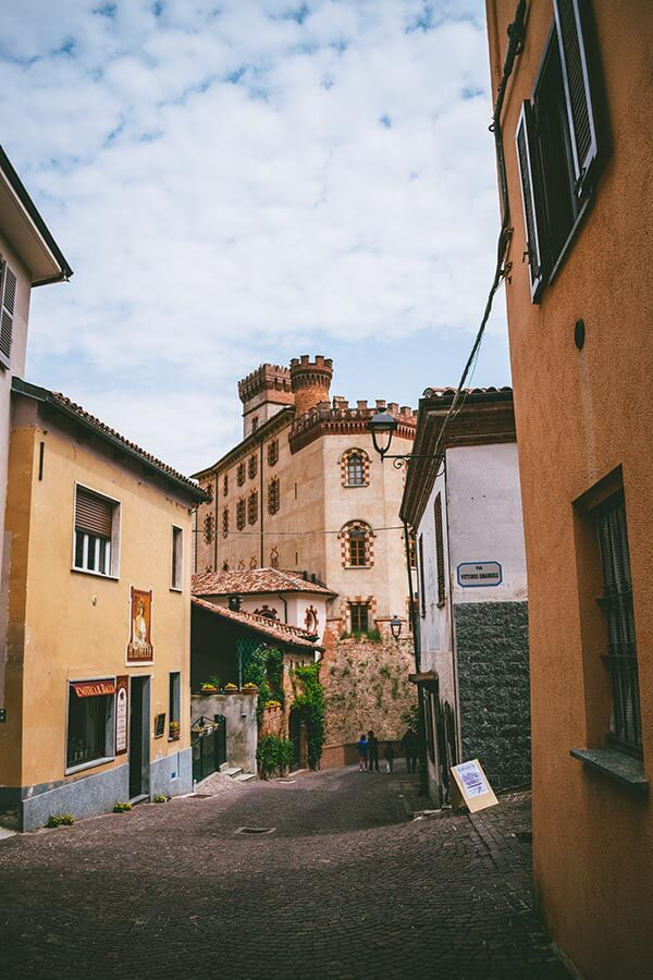 Castle in Barolo, Italy. Barolo is one of the most famous places to taste Barolo in Italy
