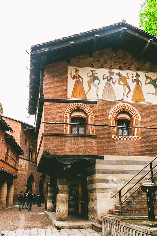 Exterior of the Borgo Medieval, one of the best things to do in Turin, Italy!