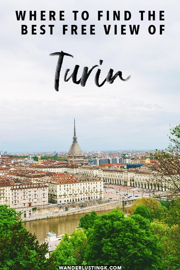 Looking for the most instagrammable spot in Turin? Read about this insider secret for the most beautiful FREE viewpoint in Turin that you can't miss for taking photos! #torino#turin