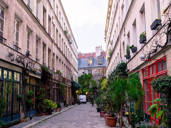 Street in Paris explored while seeing Paris by meeting up with a local