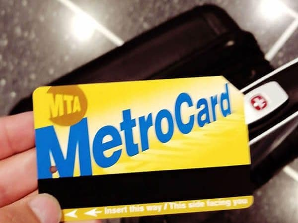 Metrocard purchased for use on the Airtrain to JFK