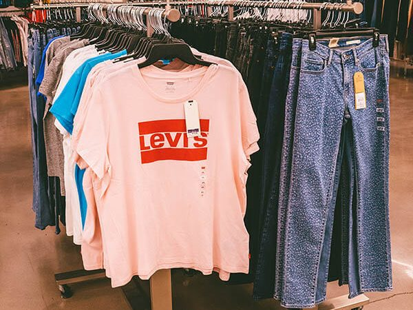 Levi's products on sale at the Century 21 department store in New York