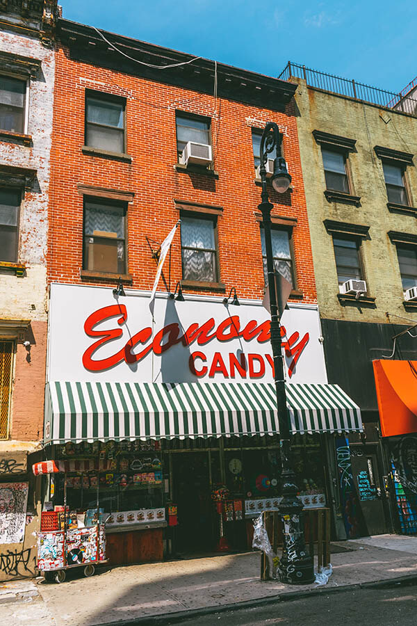 Exterior of Economy Candy on the Lower East Side