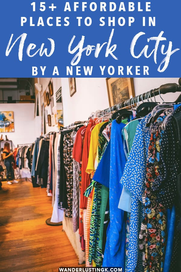 Looking for the best places to shop in New York City? Read about 15 affordable places to shop in New York City by a native New Yorker with money saving tips for buying designer clothes on a budget!