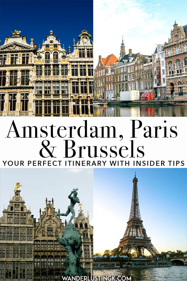 Planning your trip to Amsterdam, Paris, and Brussels? Read this handy ten day itinerary for visiting the best of Holland, Belgium, and France written by a blogger who has lived in all three cities!